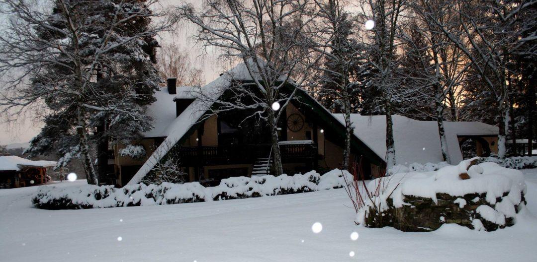 Das Haupthaus im Winter