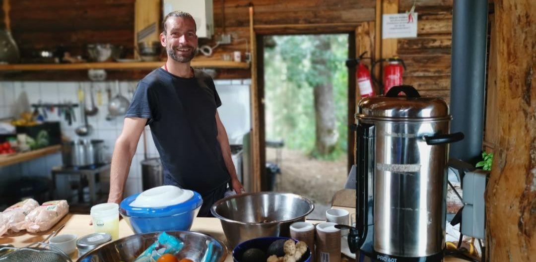 Marc beim Kochen